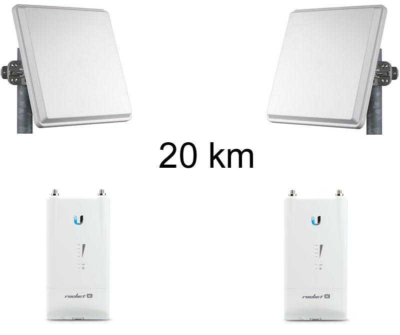 Kit pont r seau tr s haut d bit 5 ghz longue port e jusqu - Antenne wifi longue portee omnidirectionnelle ...